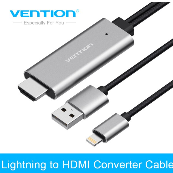 Cáp Lightning to HDMI Vention chính hãng dài 2m