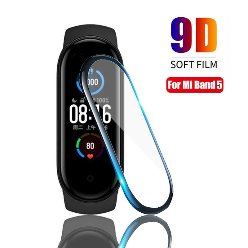 Miếng dán kính 3D chống trầy xước màn hình cho đồng hồ thông minh Xiaomi Mi Band 5