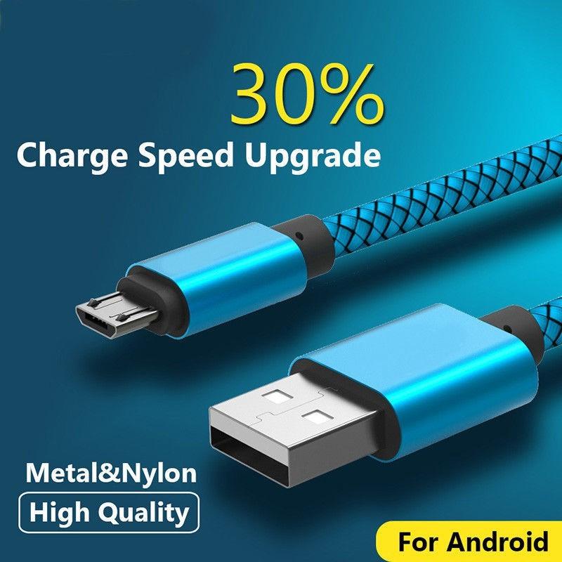 Dây cáp sạc nhanh và truyền dữ liệu Micro USB chất lượng cao nhiều màu và kích cỡ tùy chọn
