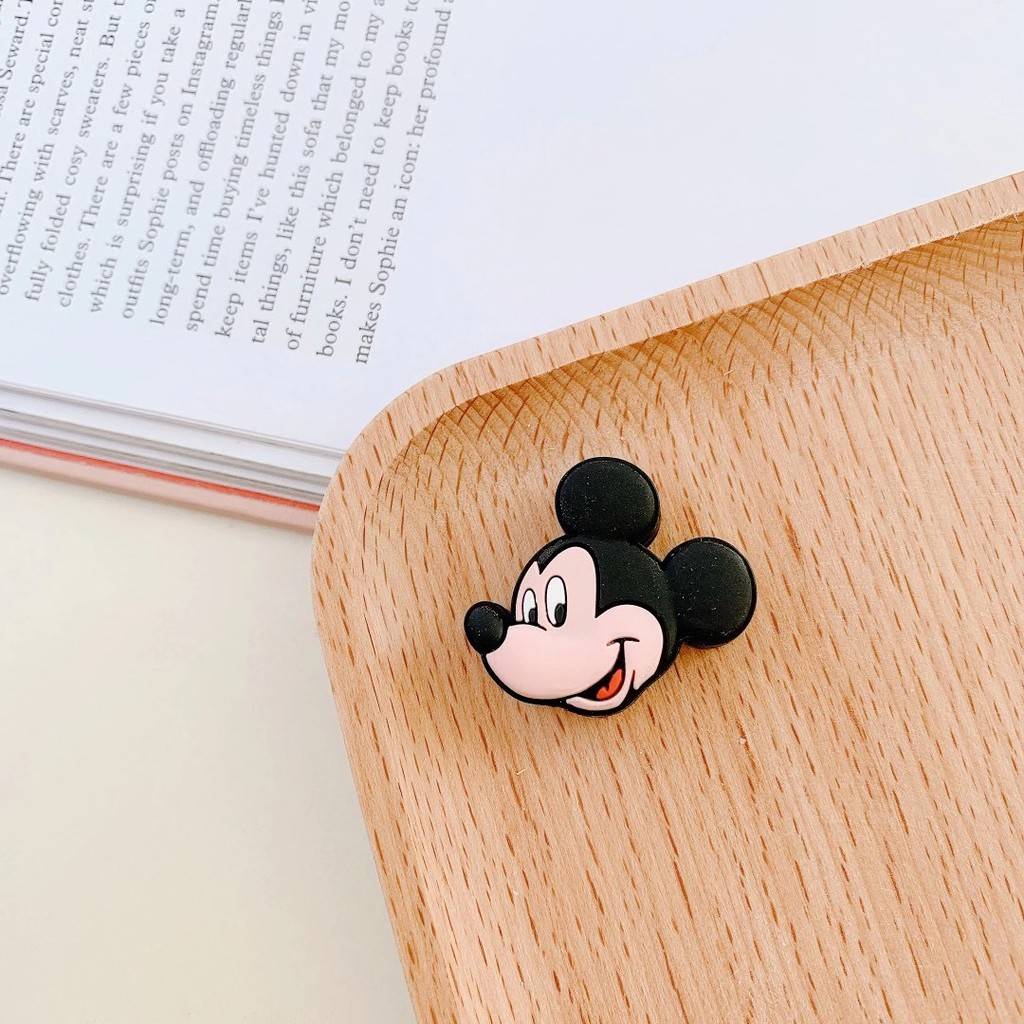 Phụ kiện bảo vệ đầu dây cáp hình Mickey / vịt dễ thương