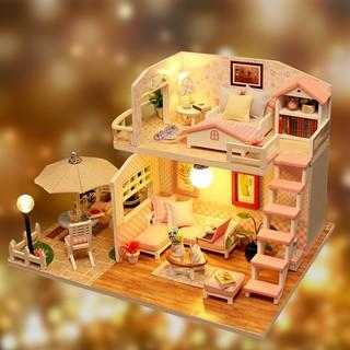 Bộ đồ chơi lắp ráp mô hình nhà gác mái cho bé (trò chơi luyện kỹ năng tư duy và tưởng tượng)