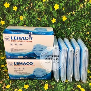 Khẩu Trang Kháng Khuẩn Màu XANH Lehaco 4 lớp 50 cái hộp - Khẩu Trang y tế Lehaco Kháng Khuẩn thumbnail