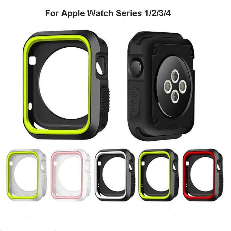 Ốp bảo vệ mặt đồng hồ cỡ 38mm 40mm 42mm 44mm chất lượng cao cho Apple Watch Series 4 3 2 1