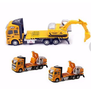 Toys Metal and Plastic Dredge Truck (Yellow)
