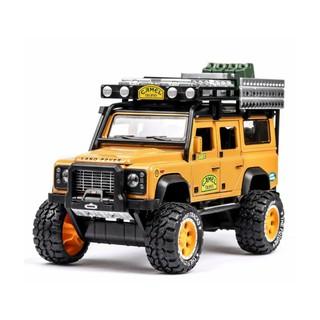 Mô hình xe sắt Land Rover Defender 110 Super Lift Camel Trophy Competition 1/28