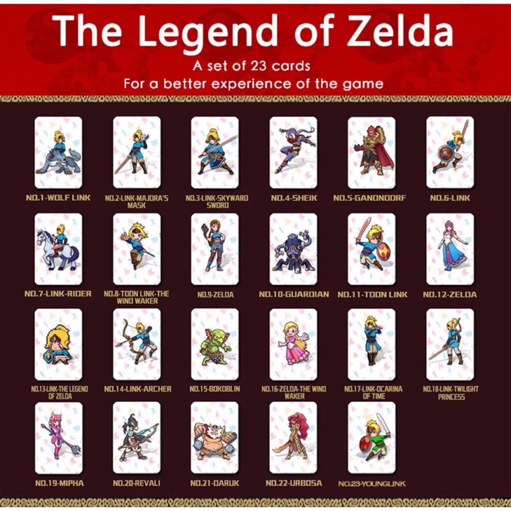 Nintendo Switch Amiibo Game Cards for Zelda Link's Awakening Super Smash Bros Mario Odyssey Splatoon2 Fire Emblem