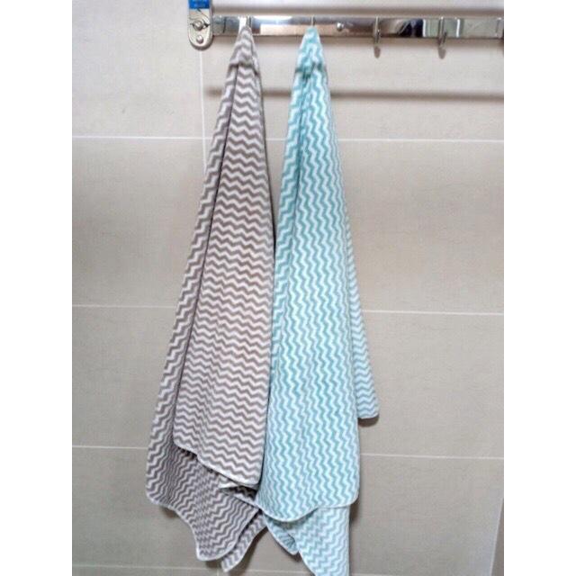 Khăn tắm LÔNG CỪU 70x140 siêu mềm mịn họa tiết sọc - Mã 714