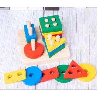 Đồ chơi giáo dục thả hình khối