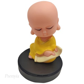 Plastic Monk Shaking Head Figure Car Home Office Ornament Gifts