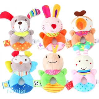 Toy Baby Rattle Newborn Baby Infant Hand Bell Ring Gum Cartoon Animals Shaped Soft Plush