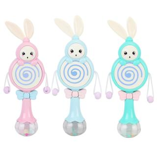 1pc Cartoon Baby Rattles Drum Sand Hammer Molar Teether Educational Kids Toys for Newborns Light Music Singing Rattle Funny Game