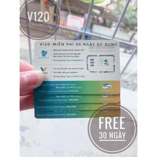 [FREE 1Tháng] Sim V120 4G tốc độ cao có chọn số