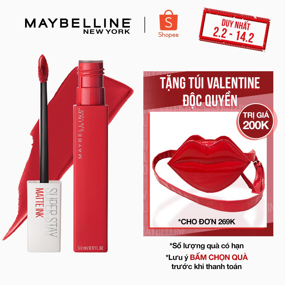 Son Kem Lì 16h Lâu Trôi Maybelline New York Super Stay Matte Ink Lipstick City Edition 5ml