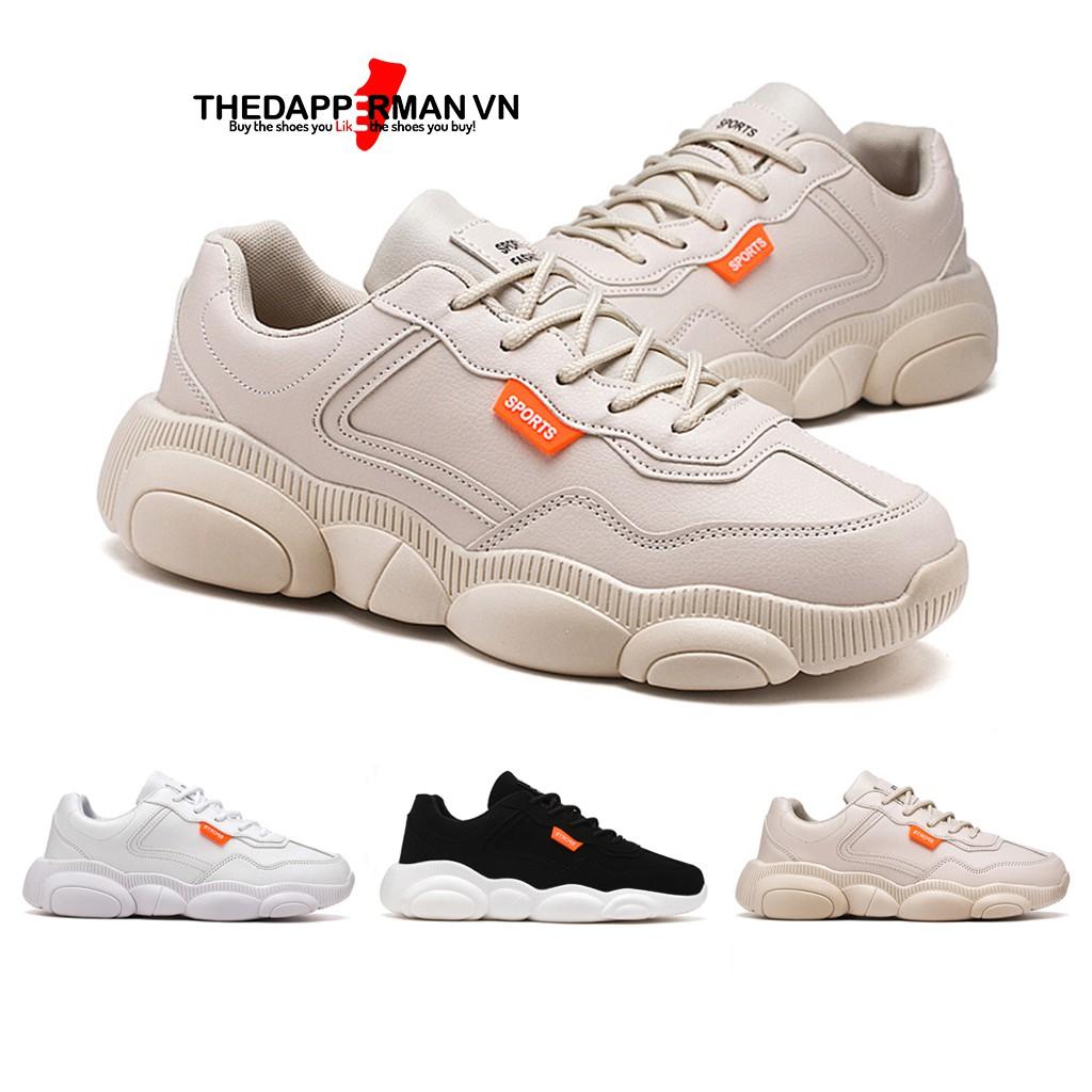 Giày nam thể thao sneaker THEDAPPERMAN XXD001 chất liệu da, đế cao su nhiệt dẻo, êm chân, chống trơn trượt, màu kem