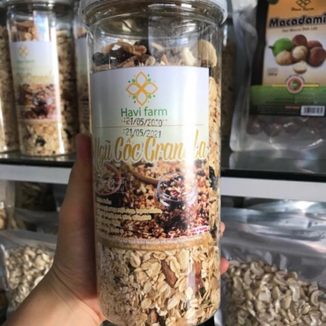 500gr Granola không đường( ngũ cốc ăn kiêng sấy tại xưởng) yến mạch sấy mật ong giòn ngon