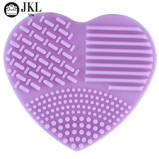 Bàn chải silicone vệ sinh cọ trang điểm ( màu tím )