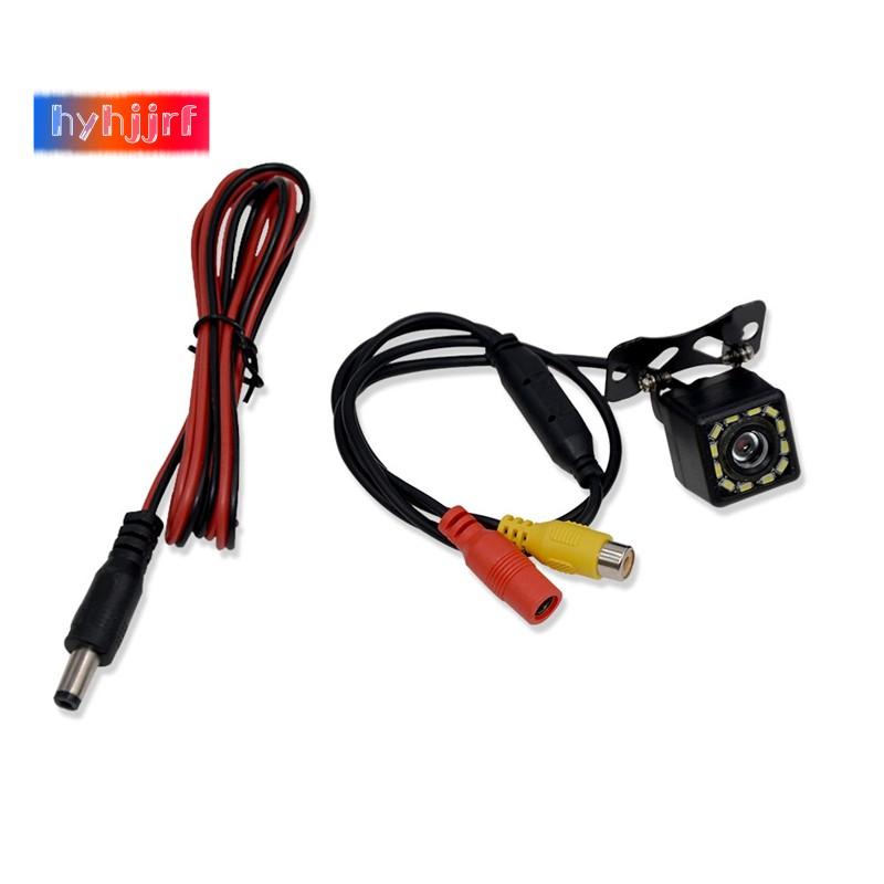 Bộ camera chiếu hậu góc rộng 170 độ HD CCD 12 LED có tầm nhìn đêm cho xe hơi