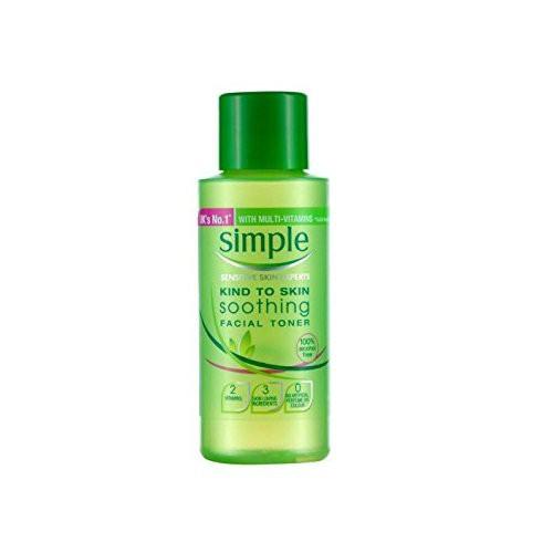 Hình ảnh Combo Nước hoa hồng Simple Soothing Facial Toner 50ml + Sữa rửa mặt dạng gel Simple Refreshing Facial Wash 50ml-1