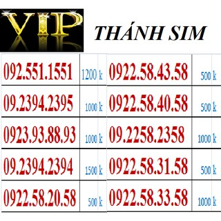 VIP H. THÁNH SIM SỐ VIP – SIM CỦA SỰ THÀNH CÔNG