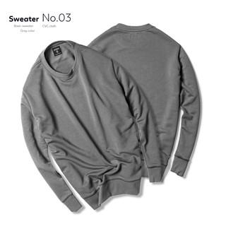 ( SLN 10 ) ( SLN 10 ) Áo dài tay nam thu đông sweater Trơn Chất Liệu Vải Da Cá 4 MÀU Phong Cách thời trang Raglan Hà