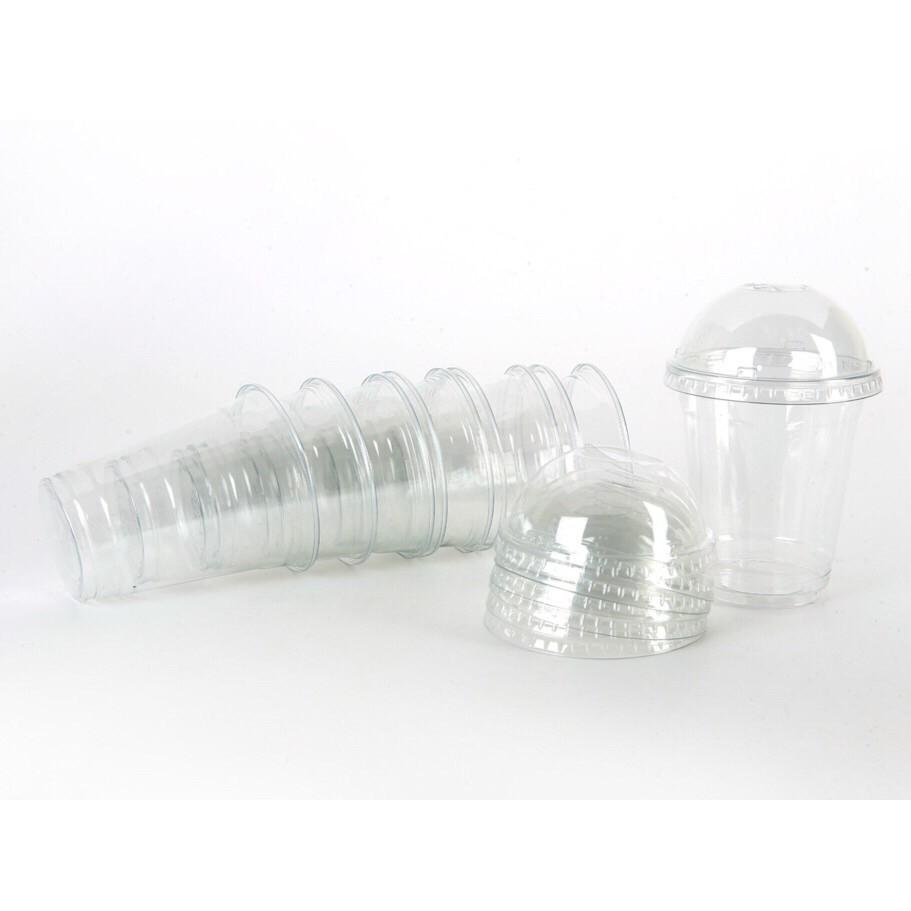 ly nhựa nắp cầu đựng trà sữa loại cao cấp siêu dày 400ml, 500ml