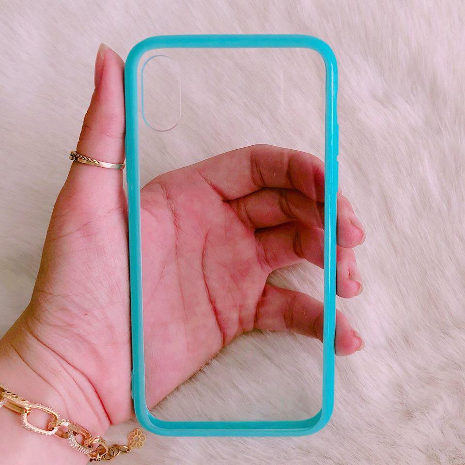 Ốp lưng iPhone X trong viền màu hot