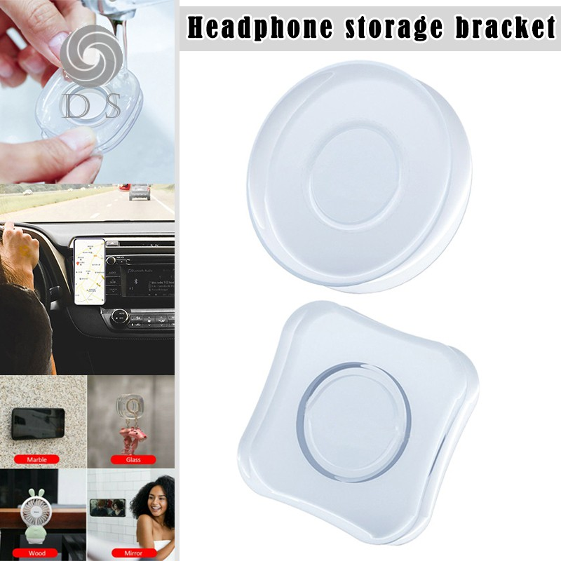 Magic Sticker Phone Holder Reusable Simple Casual Paste Support for Earphone Home