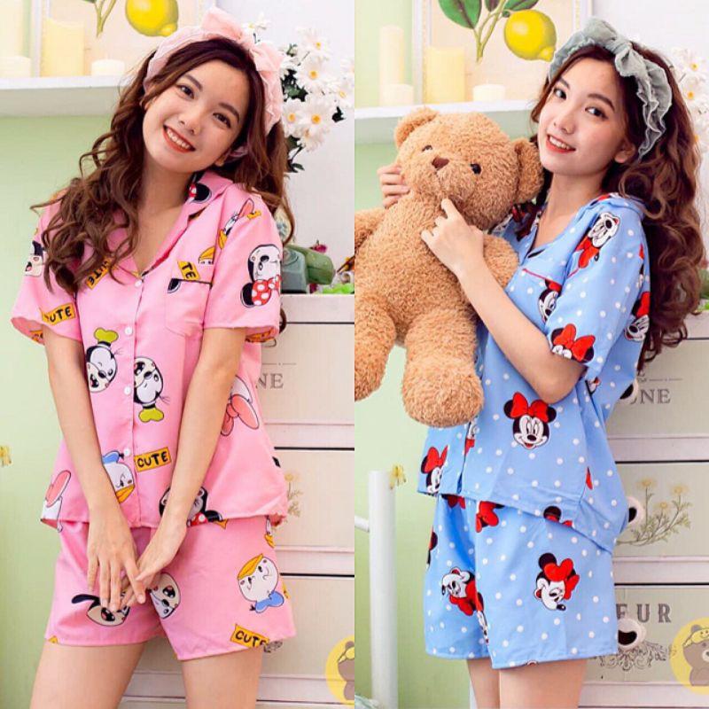 [Mã WASEPRN hoàn 20% xu đơn 99k] Đồ bộ Pijama kate thái form rộng 40-58kg❤bộ❤pijama❤đồ bộ❤bộ pijama nữ❤bộ ngủ kate
