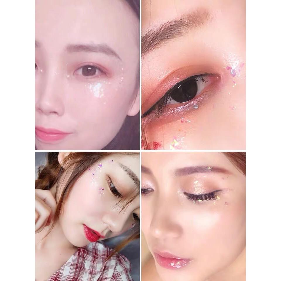 Trộn Sẵn Keo Nhũ Mắt Kim Tuyến Xà Cừ Trang Điểm Lấp Lánh Glitter