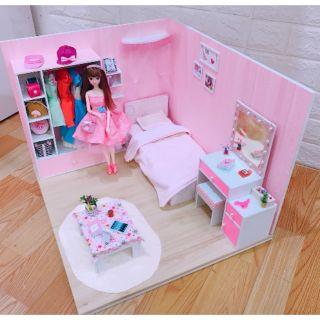Mô hình nhà, phòng ngủ cho búp bê 30cm