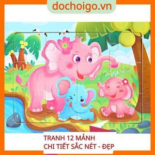 Đồ chơi phát triển trí tuệ cho bé, tranh ghép 12 mảnh size 15 cm x 11cm dochoigo.vn thumbnail