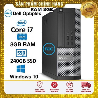 Máy tính để bàn Dell Optiplex SFF Core i7, Ram 8Gb, SSD 240GB. Quà Tặng, Bảo hành 2 năm,