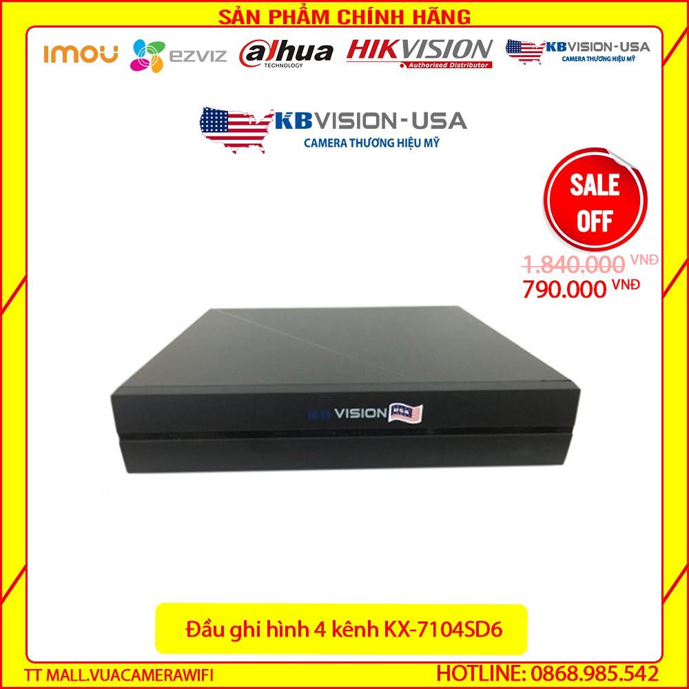 {Giá HỦY DIỆT} ĐẦU GHI 4 kênh 5 in 1 KBVISION KX-a7104SD6 - Chính Hãng 100%- Bảo hành 2 năm