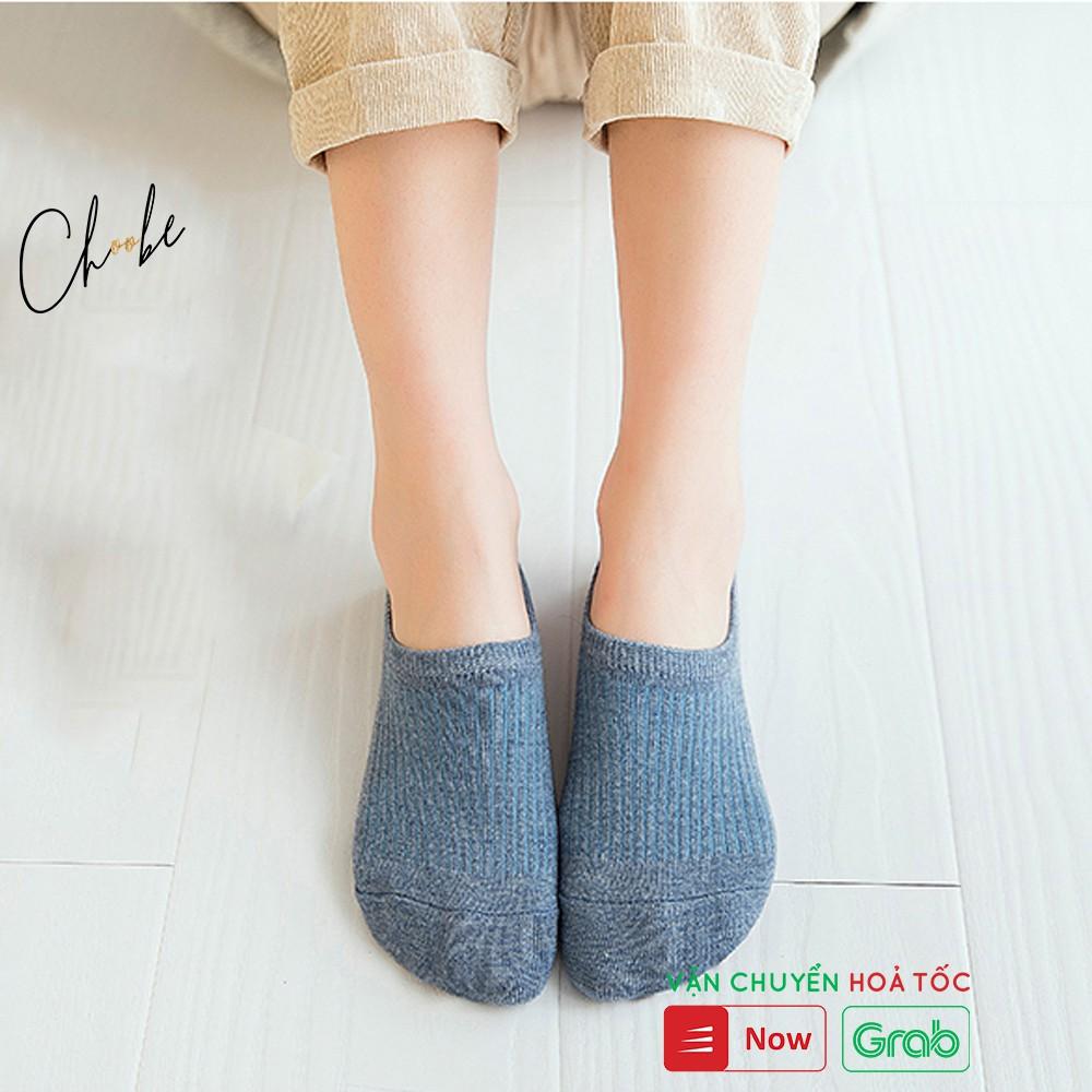 Tất nữ Choobe len gân tăm, vớ ngắn cổ vintage nhiều màu sắc Hàn Quốc PK08