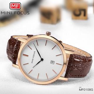 Đồng hồ nam MINI FOCUS dây da sần siêu mỏng MF108 chống nước