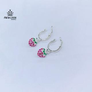 Bông Tai Bạc Trẻ Em Dâu Tây - Minh Canh Jewelry
