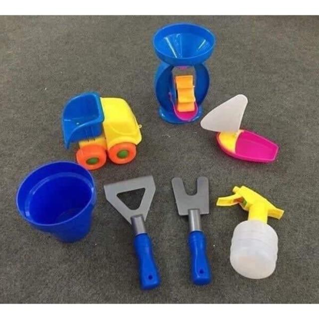 Combo 7 món đồ chơi xúc cát đi biển