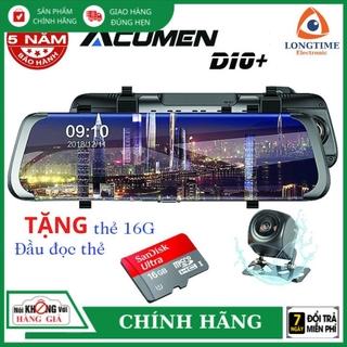 Camera Hành Trình Gương ACUMEN D10+ FullHD 1080P Ghi hình trước sau, Màn hình Cảm Ứng 9.66INCH, Góc Rộng 170 Độ thumbnail