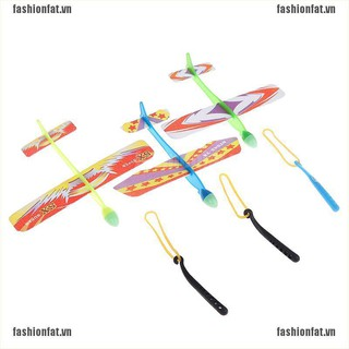 [Iron] Plastic foam elastic rubber poweRed flying plane kit aircraft toy [VN]