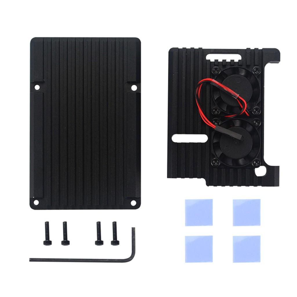 Quạt tản nhiệt làm mát kèm phụ kiện cho Raspberry Pi 3 Model B, Pi 2 Model B