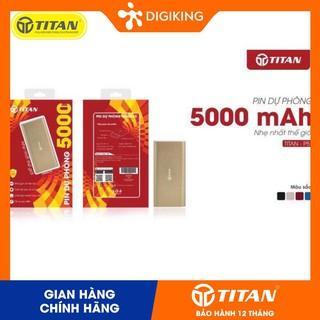 Pin dự phòng TITAN P5 5000 mAh Kim loại cao cấp - màu Bạc (BẢO HÀNH 12 THÁNG) thumbnail
