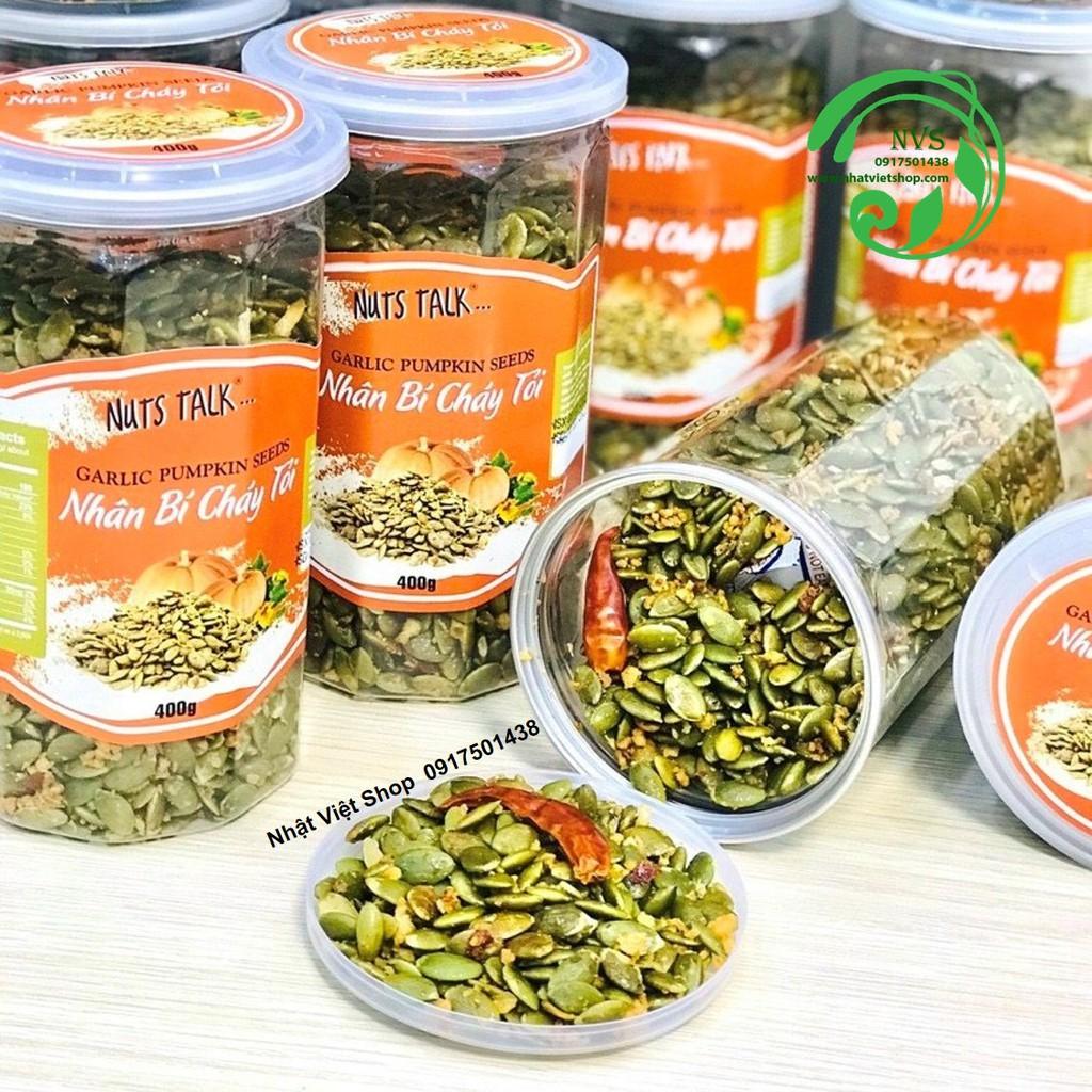 Mã GROSALE2703 giảm 8% đơn 250K] Nhân Hạt Bí Cháy Tỏi Ớt Nuts Talk 400g |  Shopee Việt Nam