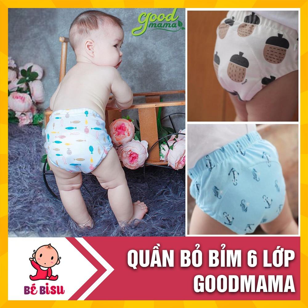 Quần Bỏ Bỉm Goodmama (size 80/90/100) 6 Lớp siêu thấm hút dành cho bé từ 6-15kg