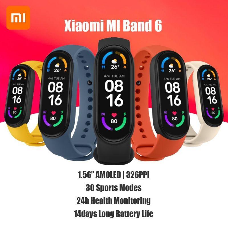 Đồng hồ thông minh Xiaomi Miband 6 - [ Bảo hành 6 tháng ]