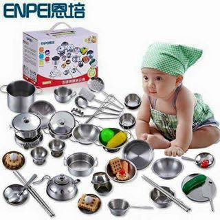 Bộ đồ chơi nấu ăn inox 40 chi tiết cho bé( bộ đủ 40 món hàng dày dặn loại 1) - 9992980 , 549898985 , 322_549898985 , 499000 , Bo-do-choi-nau-an-inox-40-chi-tiet-cho-be-bo-du-40-mon-hang-day-dan-loai-1-322_549898985 , shopee.vn , Bộ đồ chơi nấu ăn inox 40 chi tiết cho bé( bộ đủ 40 món hàng dày dặn loại 1)