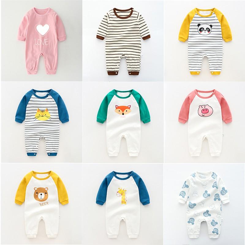 Body cotton dài tay Áo liền quần cho bé trai bé gái Hàng Quảng châu xuất Nhật SL10