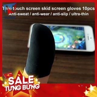 Set 10 găng đeo ngón tay chơi game cảm ứng chạm màn hình chống mồ hôi chất lượng cao cho điện thoại -Hàng nhập khẩu