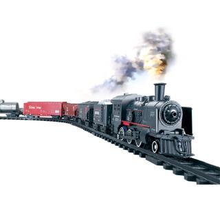 Simulation Classic Train Track Toy Little Train Retro Steam Train Toy Set
