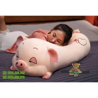 Gối ôm hình con lợn mềm mịn, béo tròn đủ size