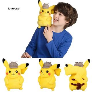 ღLOVEღ11inch Pokemon Figure Pikachu in Hat Doll Plush Stuffed Kids Toy Sofa Pillow